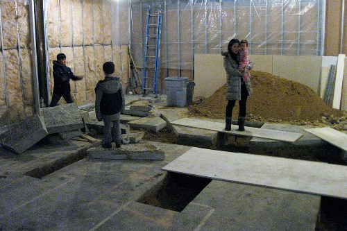 All utilities were up to us to bring in, resulting in massive delays and massive trenches cut into the concrete floor...