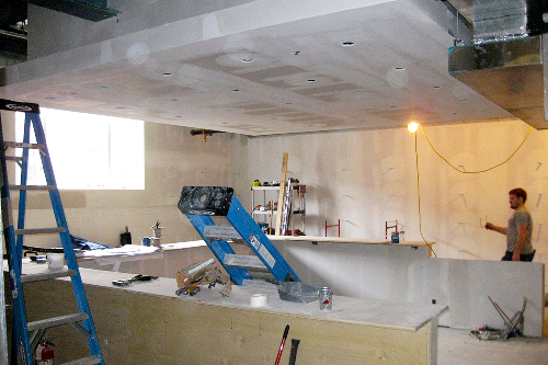 Finishing touches start making the space actually feel like a soon-to-be restaurant!