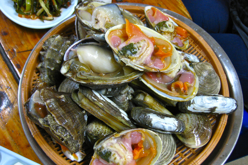 Raw shellfish
